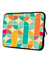 """Snoogg Abstract Pattern Blue and Yellow 15"""" inch to 15.5"""" inch to 15.6"""" inch Laptop netbook notebook Slipcase sleeve Soft case cover bag notebook / netbook / ultrabook carrying case for Macbook Pro Acer Asus Dell Hp Sony Toshiba"""