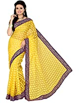 Aadarshini Women's Raw Silk Saree (110000000245, Yellow)