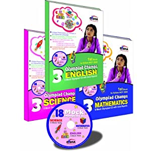 Olympiad Champs Science, Mathematics, English Class 3 with 18 Mock Olympiad Tests CD (Set of 3 Books)