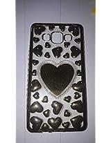 Samsung Galaxy A5 love heart phone cover, Gold