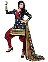 Sonal Trendz Black Color Pure Cotton Printed Suit.