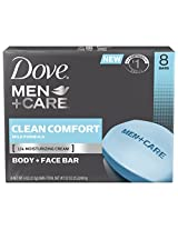 Dove Men+Care Bar, Clean Comfort 4 ounce, 8 Bar