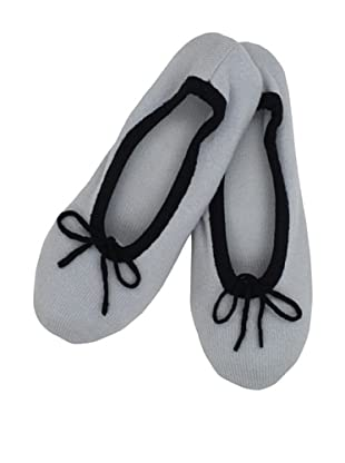 a&R Cashmere Slippers with 2 Tone Trim (Sky)