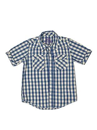 New Caro Camisa Conquista (Azul / Crudo)