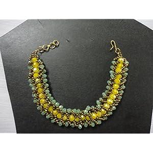 Mona Jewels Flat Spiral Woven Bracelet