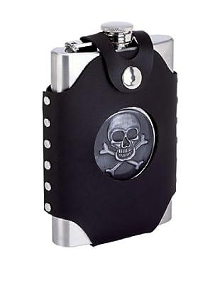 Skull & Crossbones Flask with Vegan Case