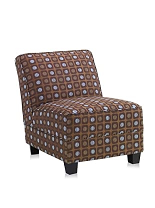 Armen Living Canyon Leisure Chair (Brown/Blue)