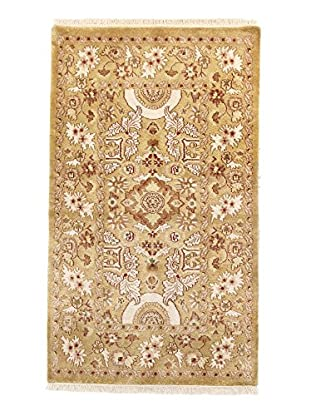 F.J. Kashanian One-of-a-Kind Hand-Knotted Bessarbian Rug, Gold/Gold, 2' 11