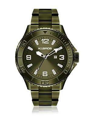 K&BROS Reloj 9564 (Verde Militar)