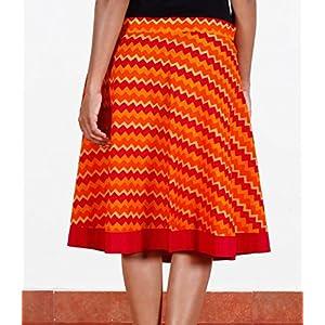 Red and orange wrap-around skirt