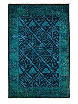 Darya Rugs Ziegler One-of-a-Kind Rug, Teal, 4' 2