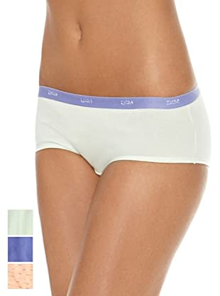 DIM  Pack X 3 Culottes (Blanco / Verde / Azul)