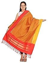 Multicolor Pochampally Or Ikat Silk Handloom Dupatta