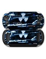 Sony Ps Vita Skin Radioactive Blue By Wraptor Skinz