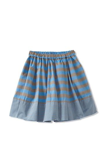 kicokids Girl's Striped Circle Skirt (Surf)