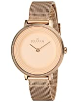 Skagen Ditte Analog Gold Dial Women's Watch - SKW2213