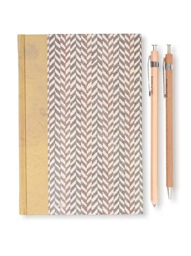 Sweet Bella Classic Agenda and Wood Pen and Pencil Set