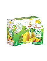 Happy Tot Organic Baby Food Spinach Mango and Pear 4.22-Ounce Pouches (Pack of 16)
