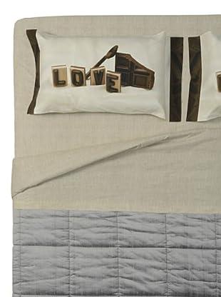 Ipersan Completo fotografico Fine-Art Disegno Chocolove (beige/marrone)