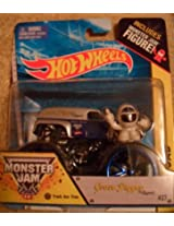 Monster jam GRAVE DIGGER includes monster jam figure with black and blue wheels RARE
