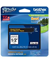 Brother BRT-TZE334 Brother Eco 12mm Laminated Tape (Gold on Black)