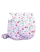 [Fujifilm Instax Mini 8 Case] - CAIUL Vintage Comprehensive Protection Instax Mini 8 Camera Case Bag With Soft PU Leather Material (Floral)