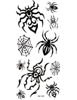 GGSELL YiMei Waterproof black temporary tattoos spider web spider
