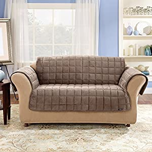 Sure Fit Deluxe Pet Cover  - Sofa Slipcover  - Sable (SF39227)