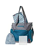 Fisher-Price Athleisure Teal and Grey Diaper Bag