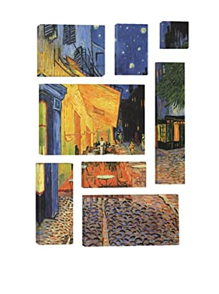Vincent Van Gogh The Cafe Terrace on the Place du Forum, Arles, at Night 8-Piece Giclée Canvas Print