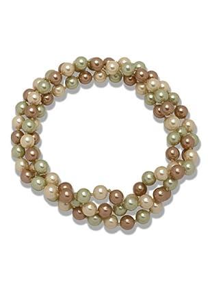 Perldor - 60650048 Collar de mujer Gris de ley con perla natural Marfil/Bronce 90 cm