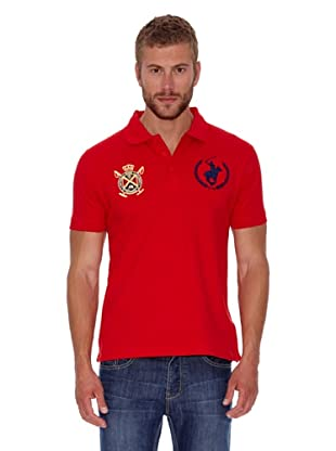 Polo Club Polo Custom Fit Escudo & Logo (Rojo)