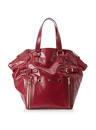 Yves Saint Laurent Women's Patent Leather Downtown Bag, Hot Pink