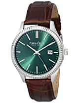 Caravelle by Bulova Dress Analog Green Dial Men's Watch - 43b133