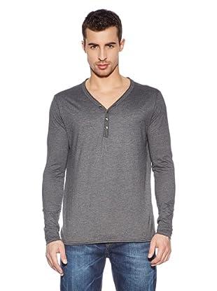 Cross Jeans Camiseta Casual (Gris Marengo)