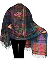 Wool Scarf Shawl Womens Gift India Clothing (80 x 28 inches)