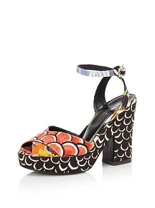 Philosophy di Alberta Ferretti Women's Graphic Platform Sandal (Multicolor Black/Blue)