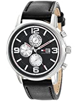Tommy Hilfiger Men's 1710335 Casual Stainless Steel Watch with Leather Band