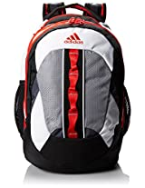 adidas Ridgemont Backpack White/Hi-Res Red/19 x 14 x 14-Inch AD