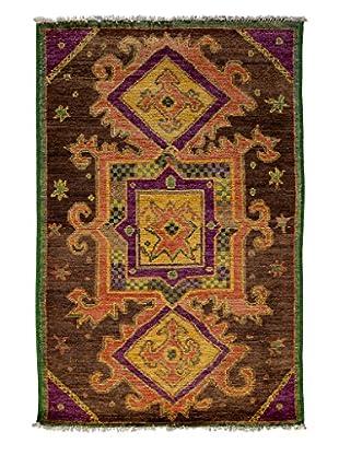 Darya Rugs Kaitag Oriental Rug, Brown, 4' x 6' 1