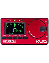 KLIQ MetroPitch - Metronome Tuner - with Guitar, Bass, Violin, Ukulele, and Chromatic Modes - Tap Tempo - Tone Generator - Best for All Acoustic & Electric Instruments - Carrying Pouch Included, Red