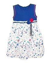 Karrot Girls Printed Woven Dress(9449795_Royal Blue_3-6m)