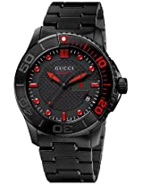 Gucci G Timeless Black Pvd Stainless Steel Mens Watch Ya126230
