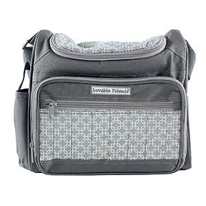 Luvable Friends 30895 Diaper Bag-Grey