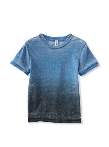 Colorfast Apparel Boy's Dip Dye Burnout Crew (Blue/Navy)
