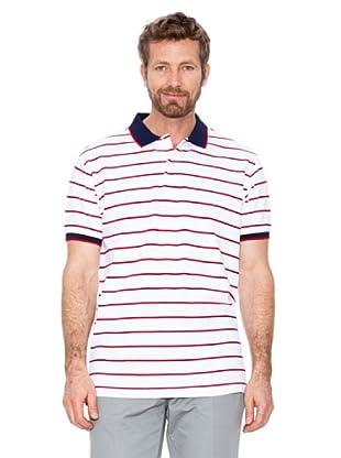 Cortefiel Polo Streifen (Rot/Weiß)