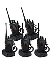 Special Offer!!!Retevis H-777 2-Way Walkie Talkie UHF 400-470MHz 5W 16CH Single Band With Earpiece Hand Held Mobile Amateur Radio Walkie Talkie Ham Radio Black 5 Pack High Quality!!!