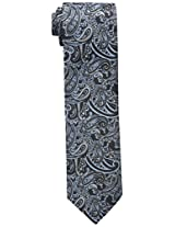 Haggar Men's Classic Washable Paisley Tie, Black, One Size
