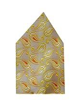 Navaksha Yellow Micro Fibre Pocket Square