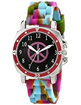 "Frenzy Kids' FR303 ""Mood Dial Peace"" Watch"